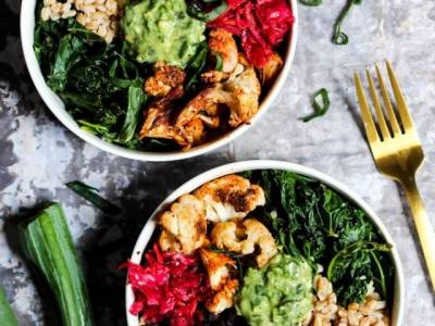Colourful Black Bean Buddha Bowl